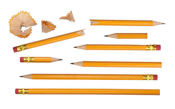 Set of pencils stock photo