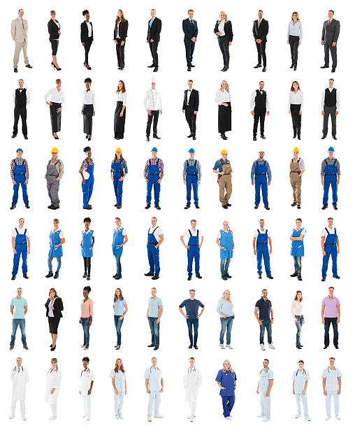 Set Of People With Various Occupations - foto de acervo