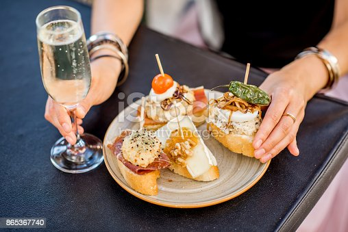 istock Set of pinchos on the table 865367740
