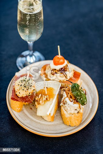 istock Set of pinchos on the table 865371334