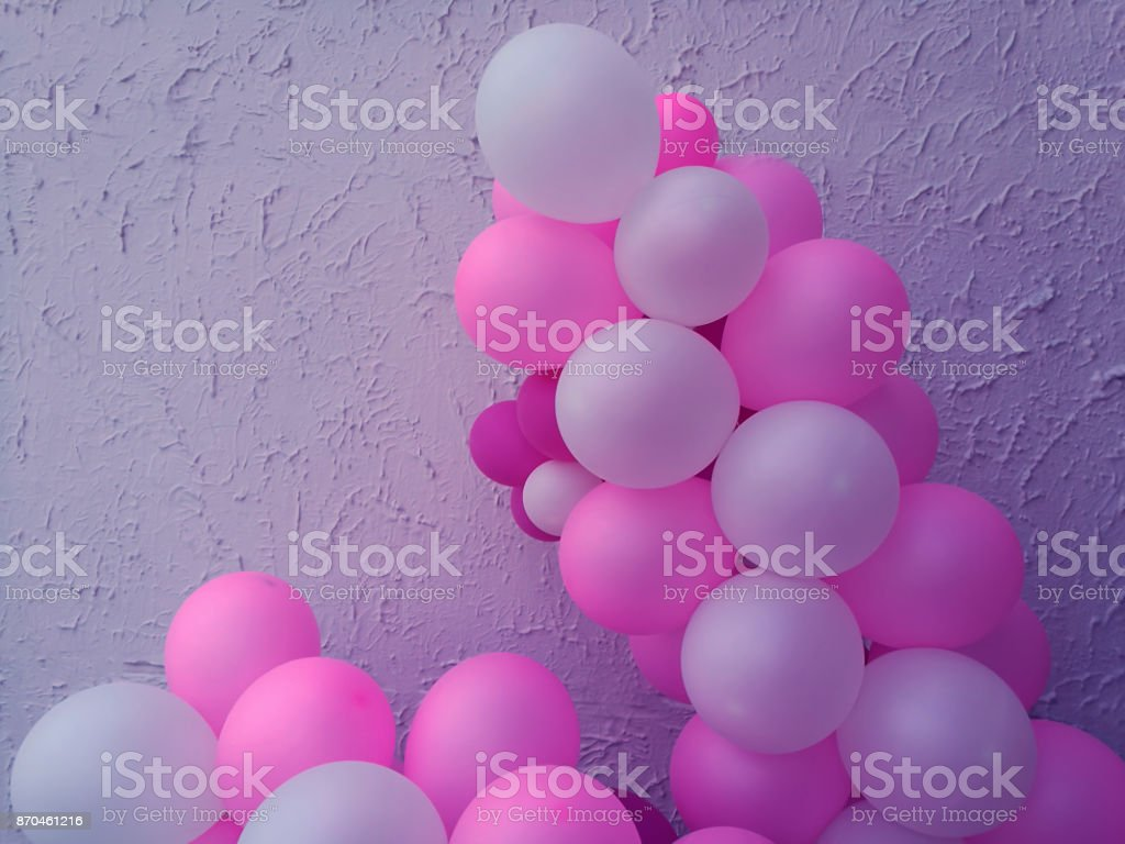 Set Of Pink White With Helium Balloon Party Balloons For Event ...