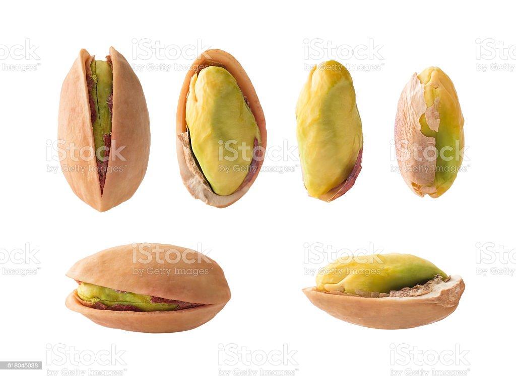 Set of pistachios stock photo