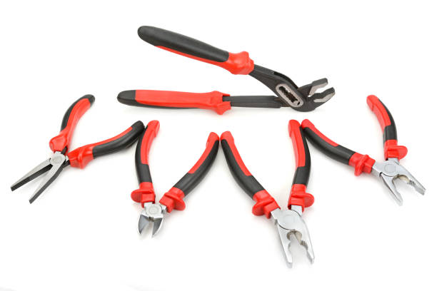 Set of pliers and nippers stock photo