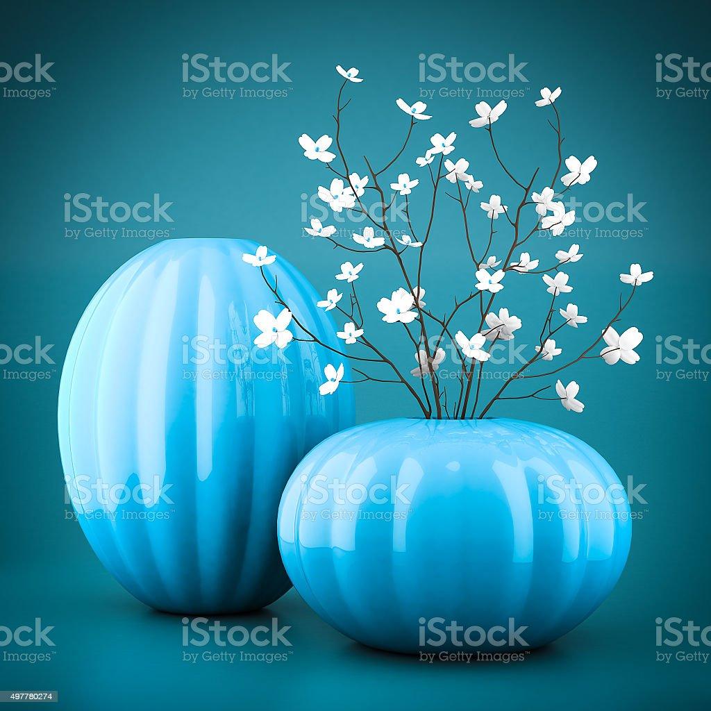 Satz von Porzellan Vasen – Foto