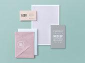Set of printed material mockups