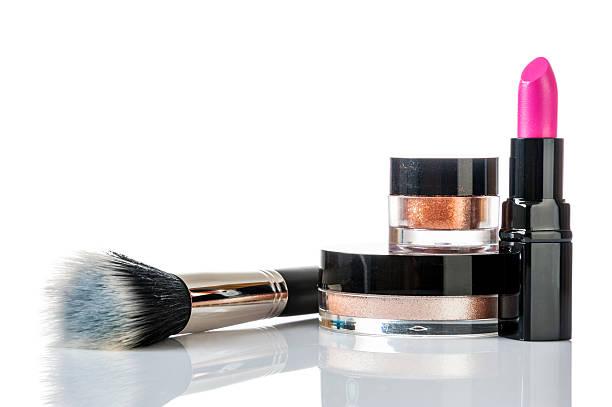 Set of professional makeup stock photo