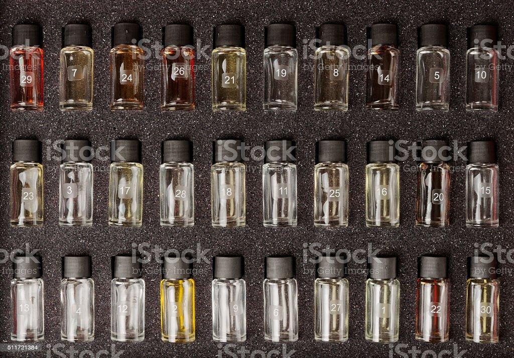 Set of pure wine aromas stock photo