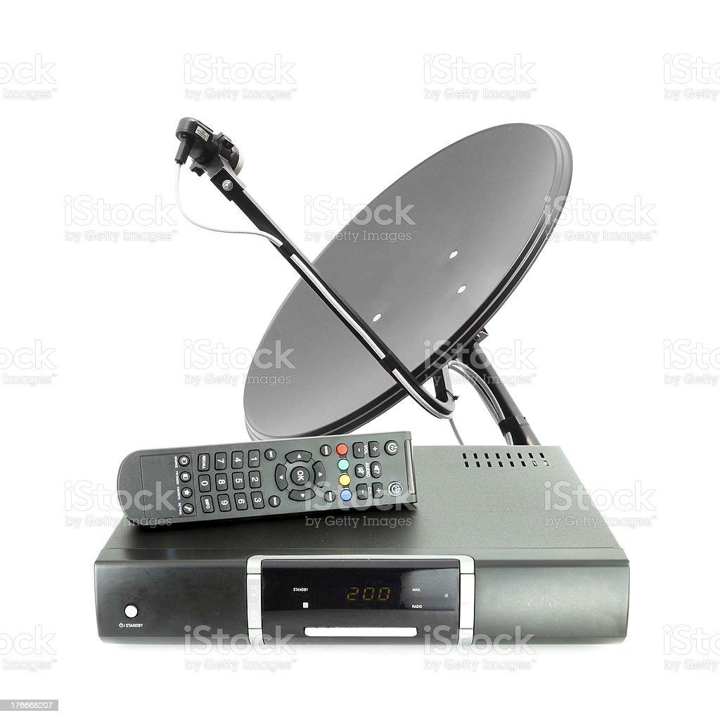 Juego de recibir la caja remota y Placa de antena foto de stock libre de derechos
