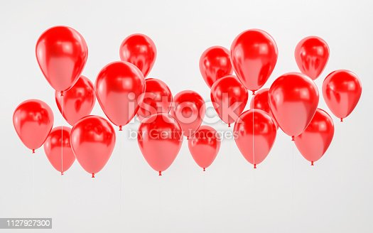 istock Set of red balloons 1127927300