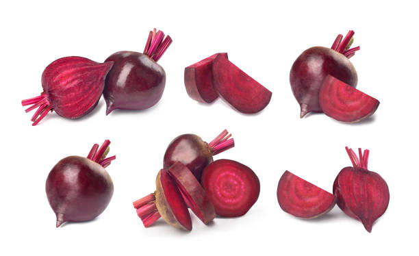 set of red beet on a white background set of red beet on a white background beet stock pictures, royalty-free photos & images