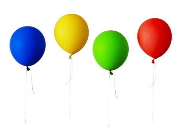 uppsättning av röda, blå, gröna och gula ballonger - blue yellow band bildbanksfoton och bilder