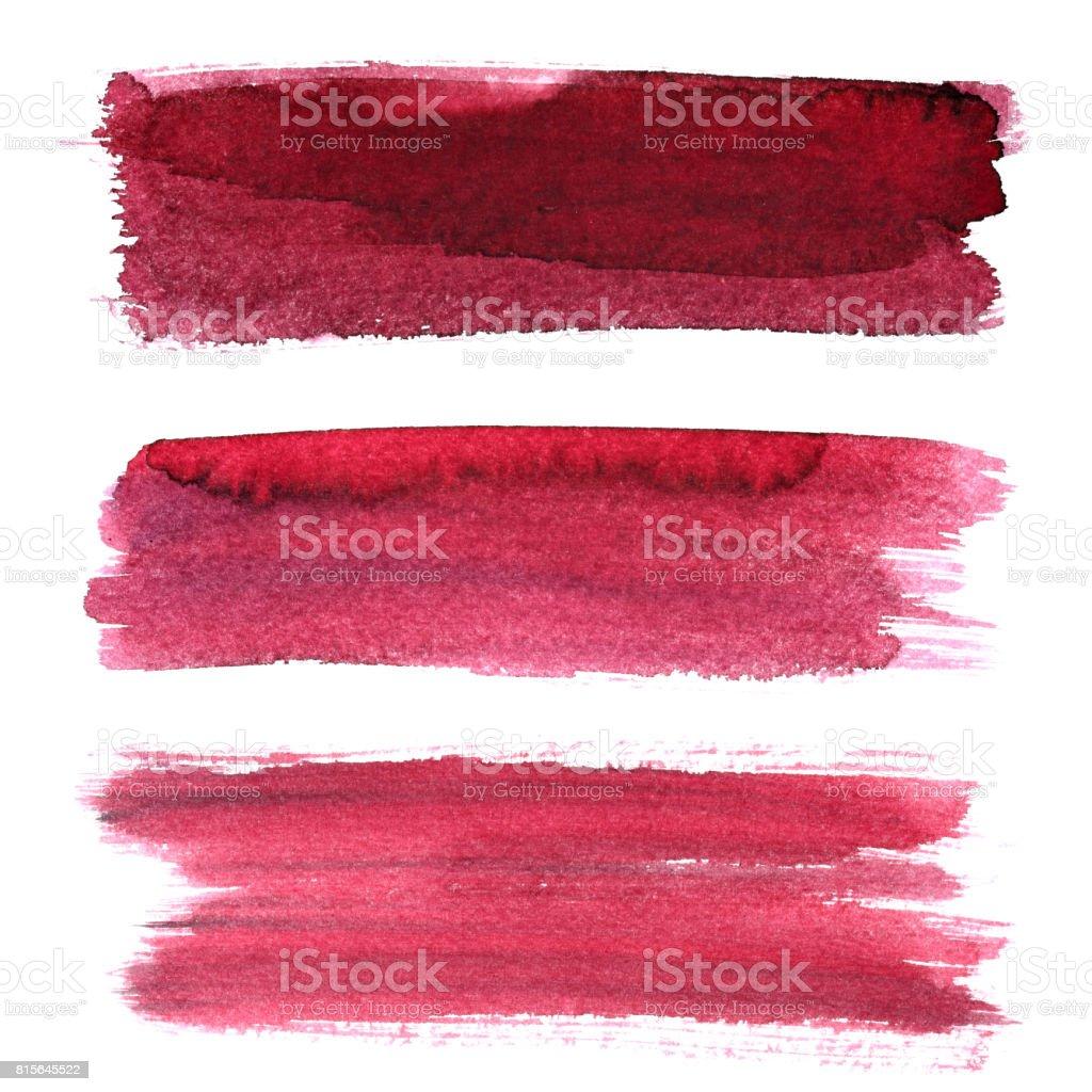 Set of rough brush strokes - foto stock