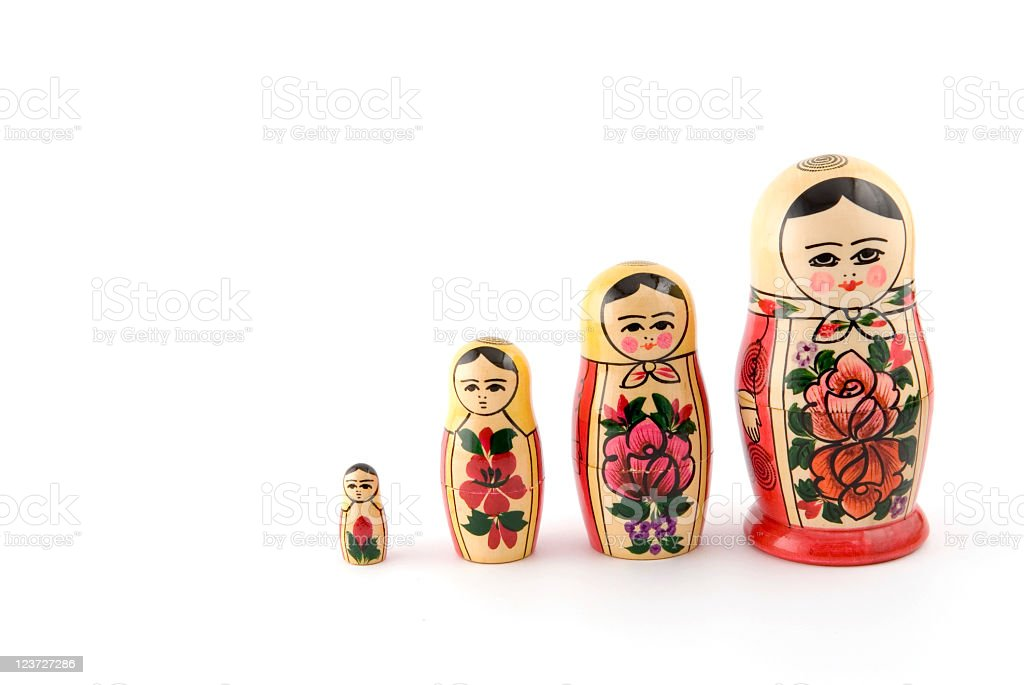 Set of Russian Matryoshka dolls royalty-free stock photo