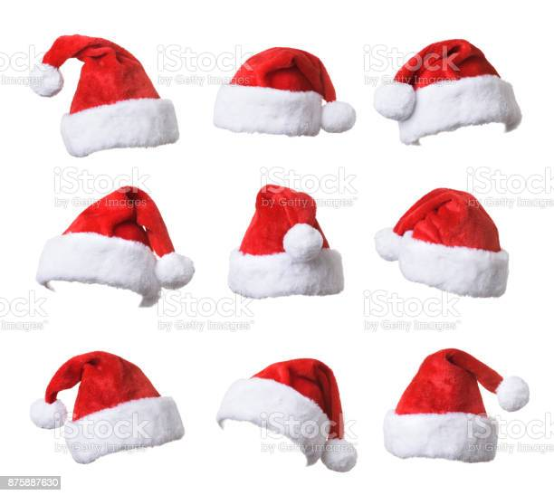 Set of santas red hat isolated on white background picture id875887630?b=1&k=6&m=875887630&s=612x612&h=rkmcjy19awpxrp ed184a znzrjdwlydgl3yge8sbw8=