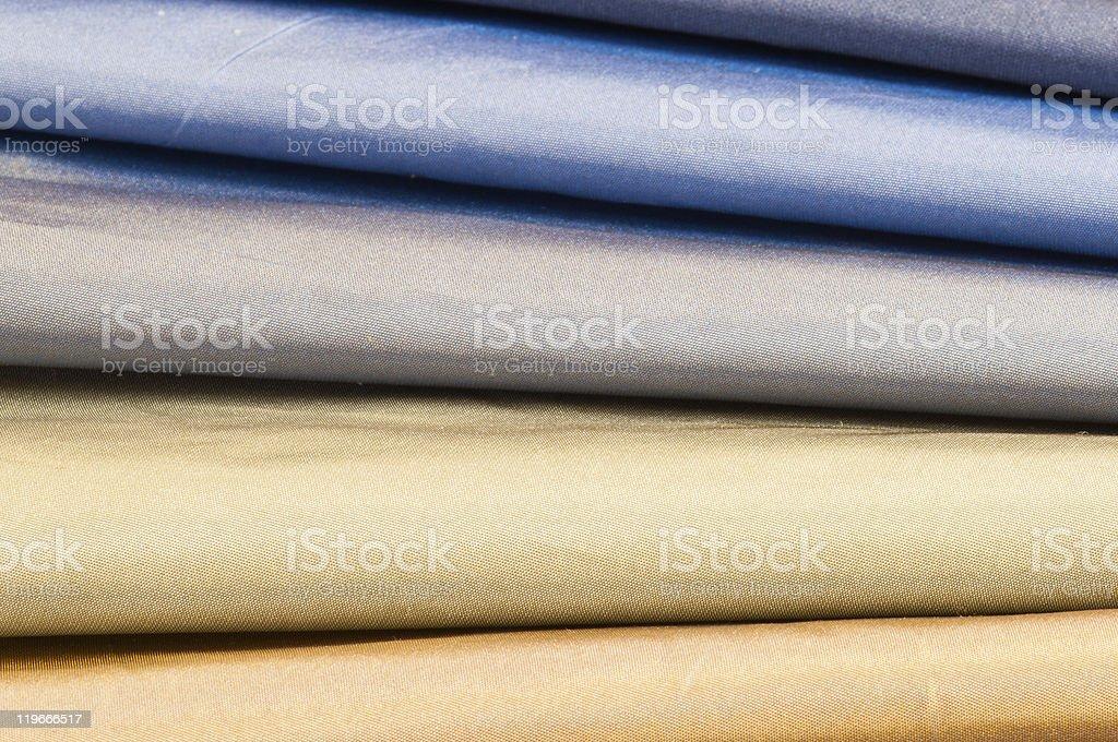 Set of satin textiles royalty-free stock photo