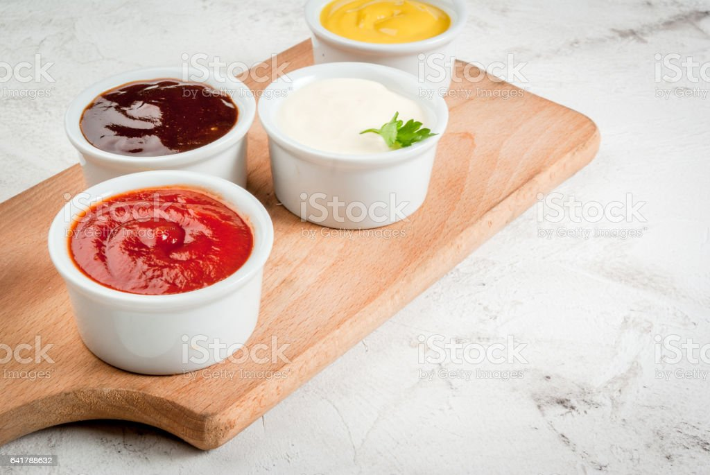 Set of saucers stock photo