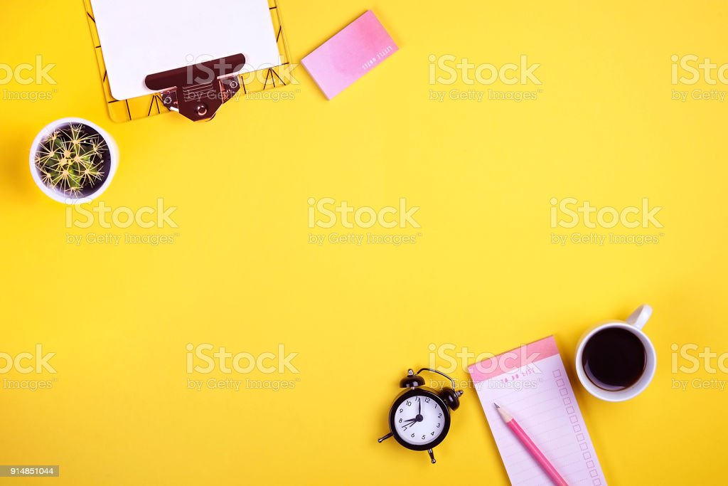 set of school supplies with plain pencil pen blank to do list
