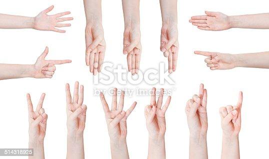 istock set of scoring hand gesture 514318925