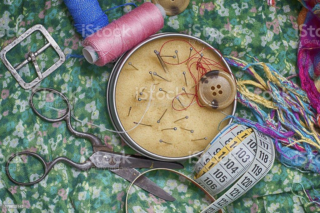 Juego de seamstress para needlework foto de stock libre de derechos