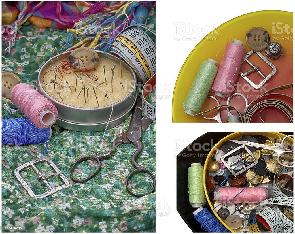 set of seamstress for needlework royalty-free stock photo