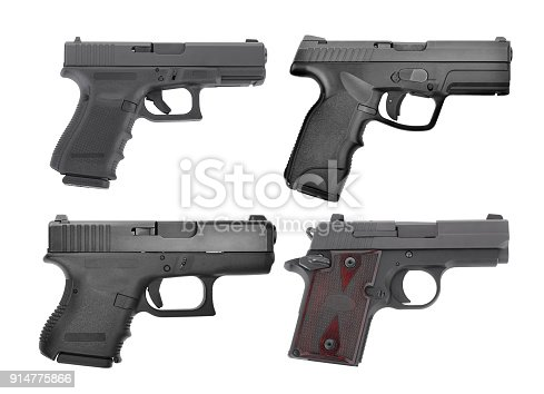 istock set of semi automatic 9 m.m handgun pistol isolated on white background 914775866