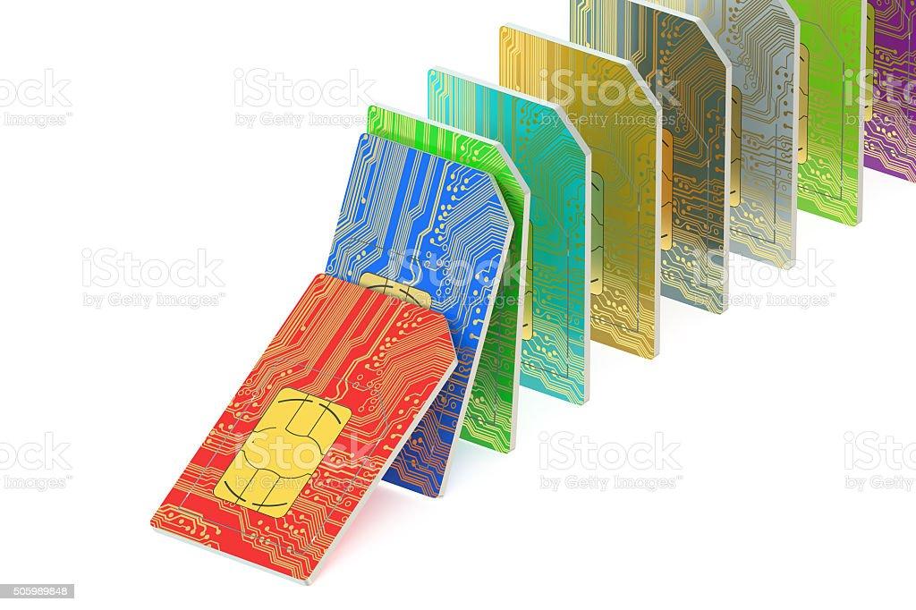 set of  SIM cards stock photo