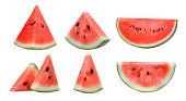 watermelon icon in a flat design in black color. Vector illustration eps10