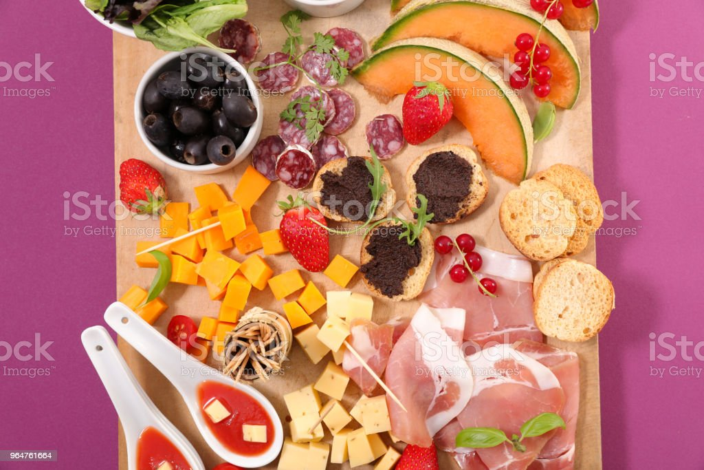 set of snack, buffet food royalty-free stock photo