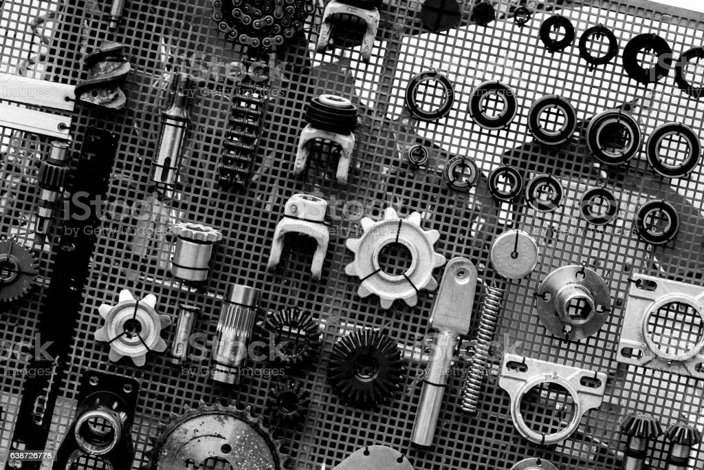 set of spare parts stock photo