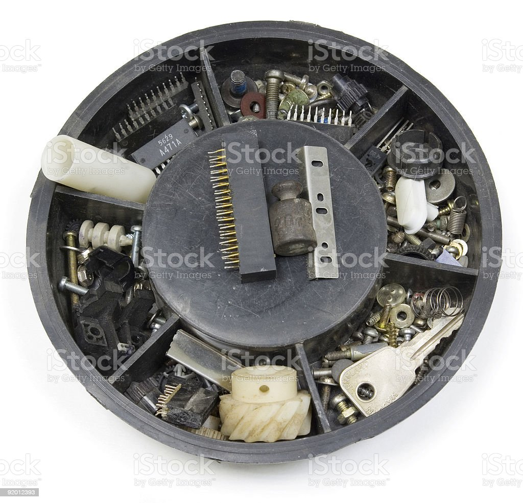 Set of spare parts royalty-free stock photo