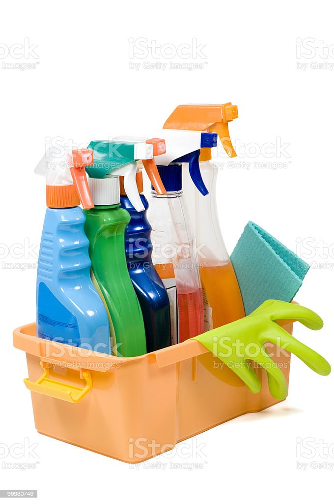 Set of sprays for cleaning. royalty-free stock photo