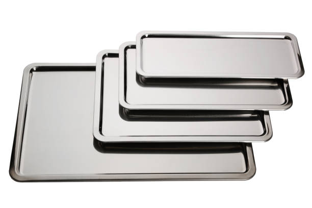 Set of stainless square trays – zdjęcie