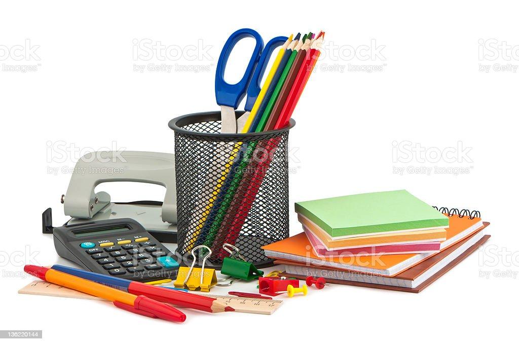 Set of stationery items. royalty-free stock photo