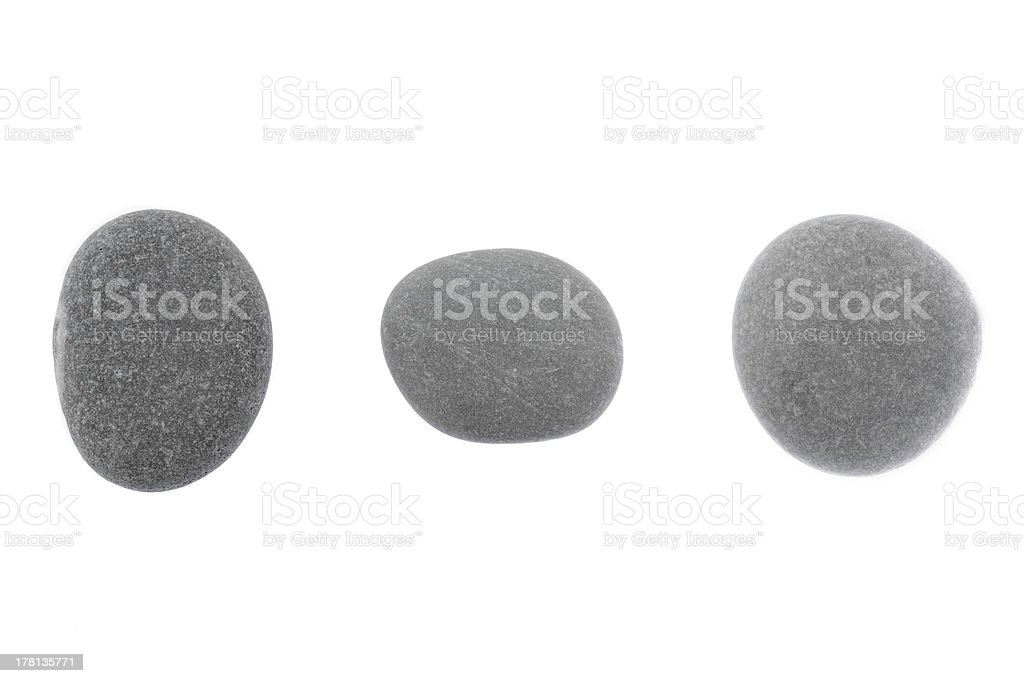 Set of stones  a round form are isolated royalty-free stock photo