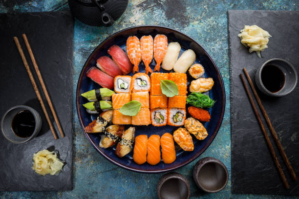 4,222 Sashimi Top View Stock Photos, Pictures & Royalty-Free Images - iStock