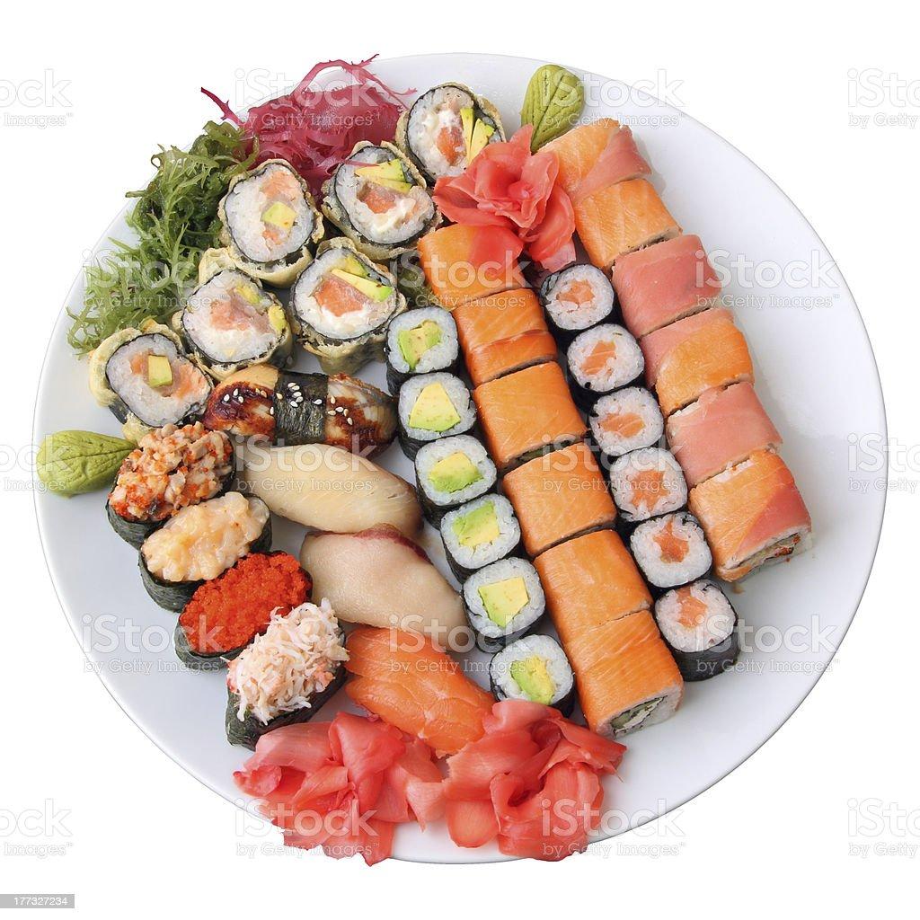 set of sushi royalty-free stock photo