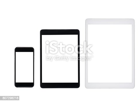istock set of tablet computers and smartphone with blank screens isolated on white 807298218
