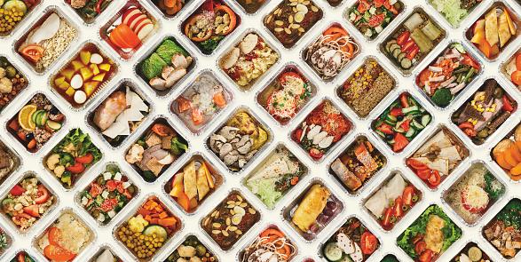 白色背景的食品盒套 照片檔及更多 一個物體 照片