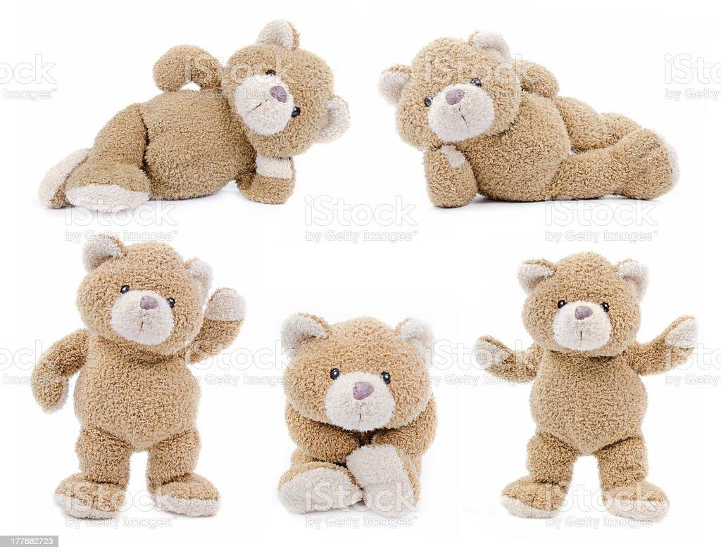 Set of teddybears stock photo