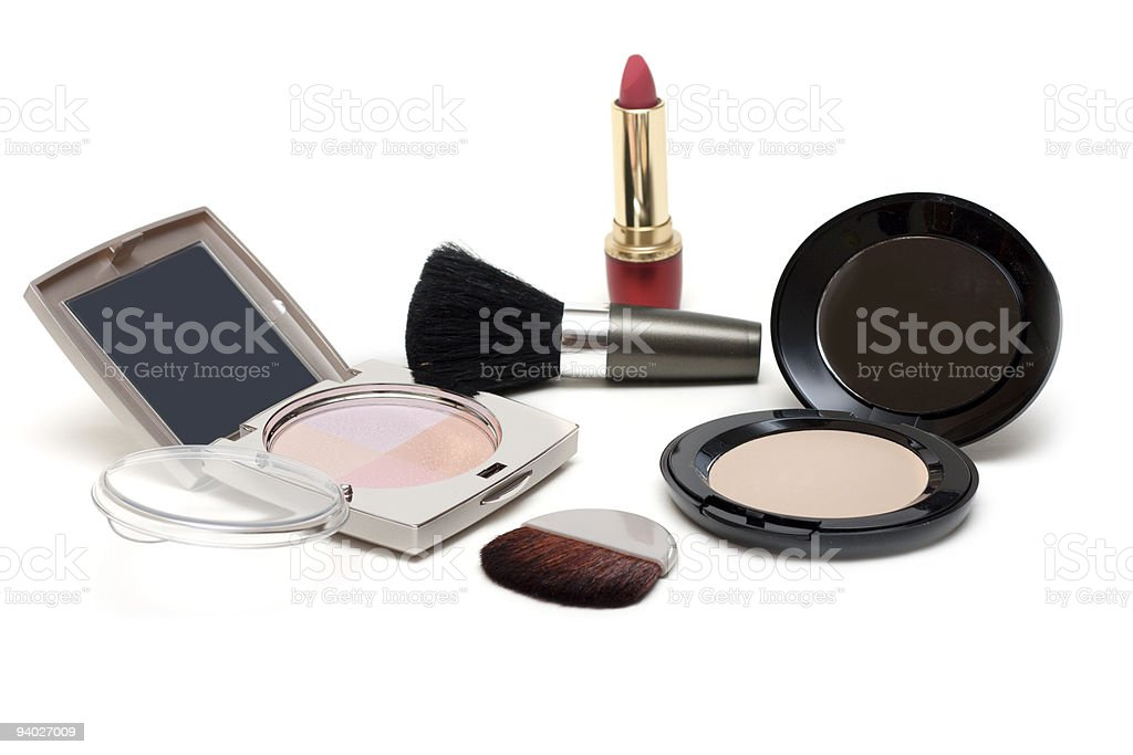 Set of the make-up royalty-free stock photo