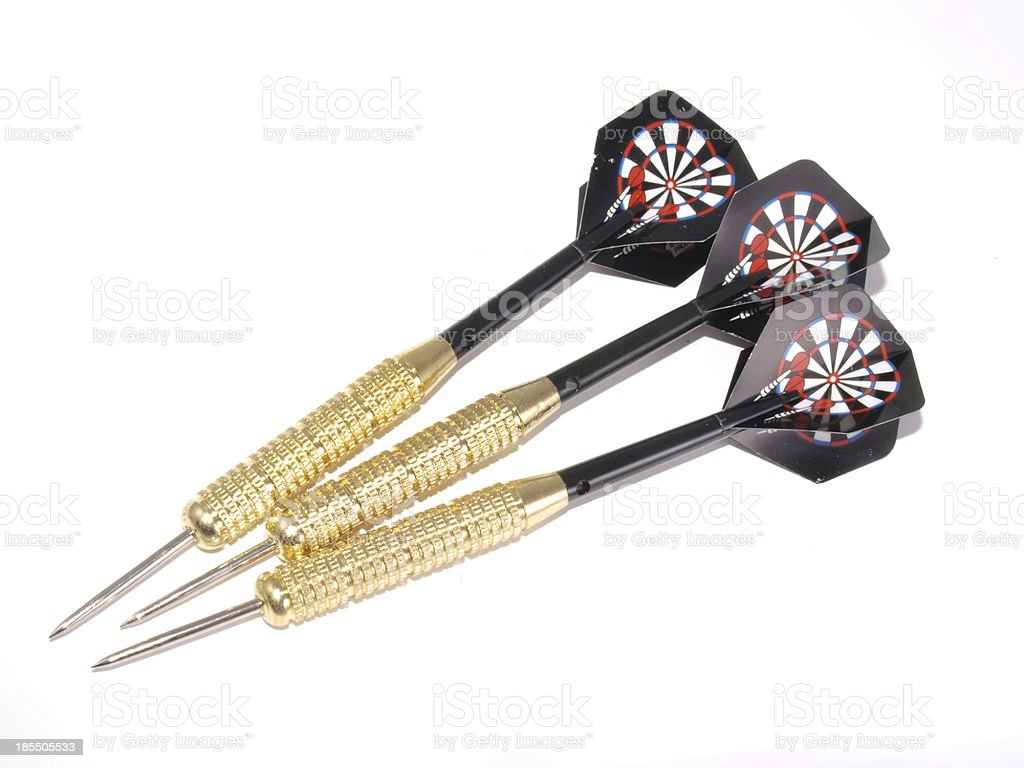 Set of three darts. royalty-free stock photo