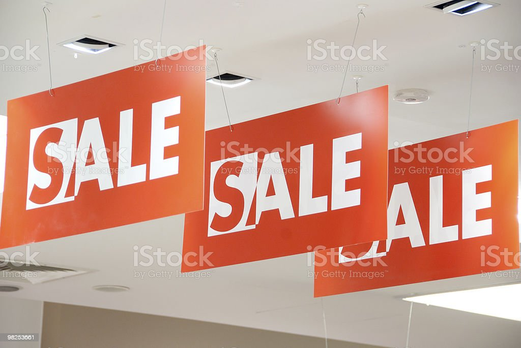 A set of three large sale signs royalty-free stock photo
