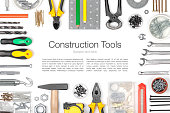 istock set of tools on white background 471920554
