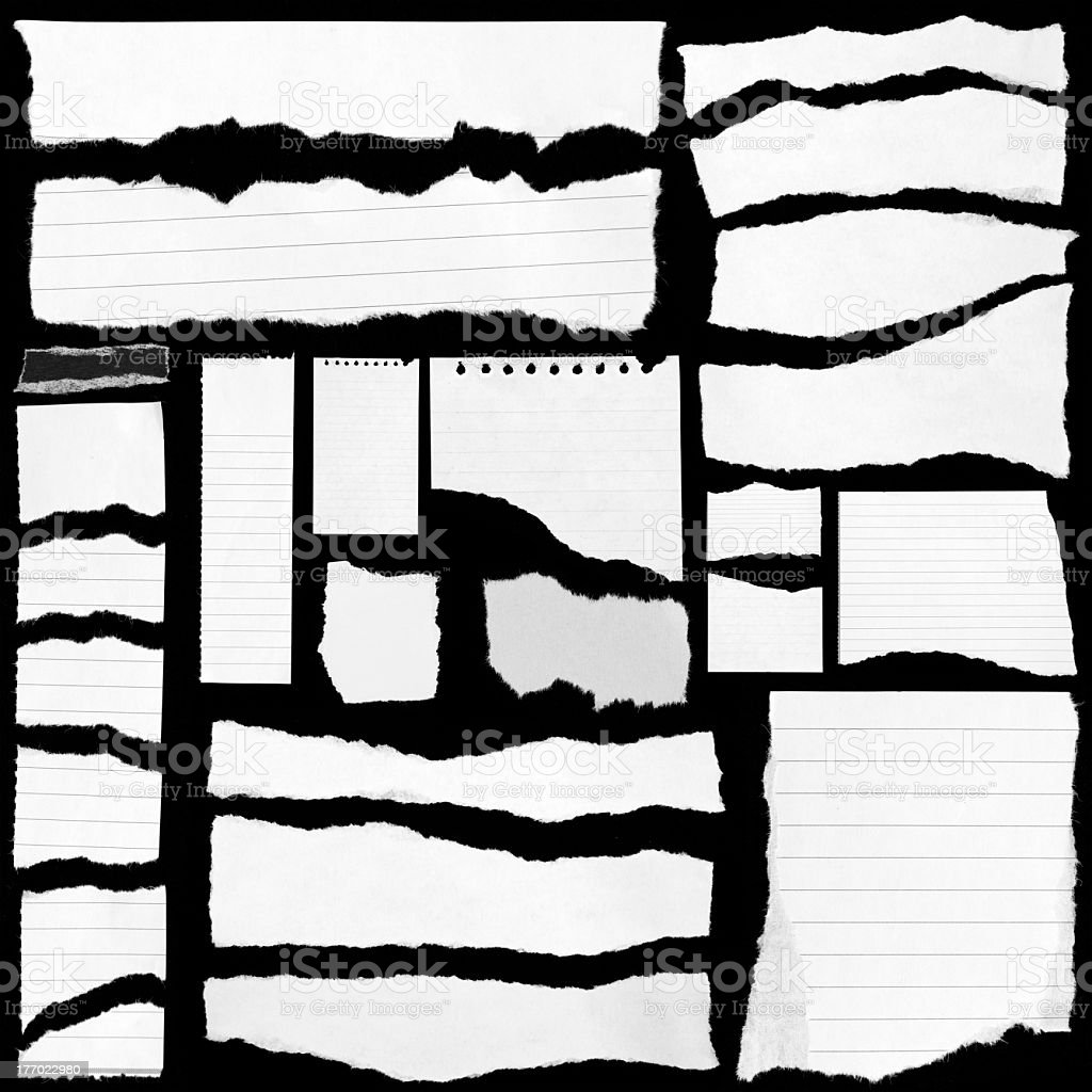 Set of torn paper design template royalty-free stock photo
