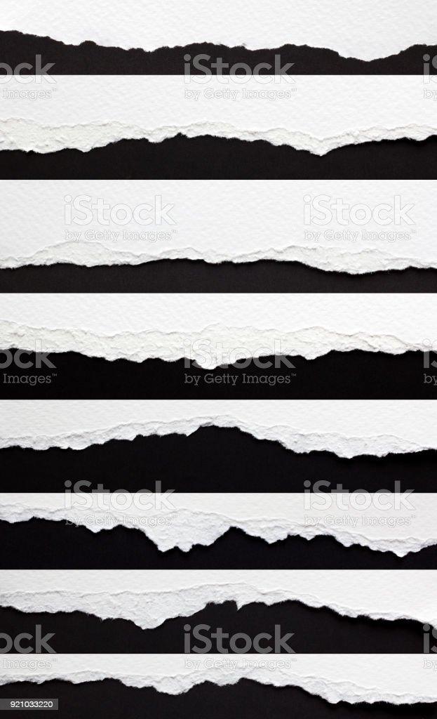 Satz von zerrissenes Papierkanten – Foto