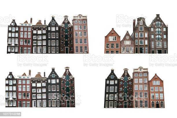 Set of traditional houses in amsterdam isolated on white background picture id1027310288?b=1&k=6&m=1027310288&s=612x612&h=nwatnmb6xjq06o14girz2ikd0rjphsuy bk4fmablmy=