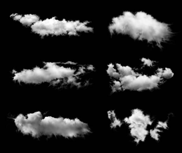 ensemble de transparente nuages - nuage 6 photos et images de collection