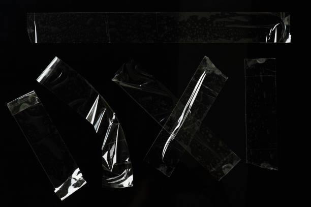 Satz transparenter Klebebandstücke – Foto