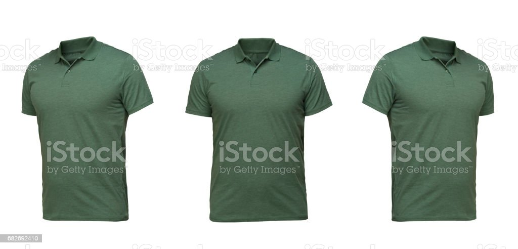 set of t-shirts isolated on white background stock photo