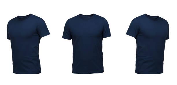 set of t-shirts isolated on white background stock photo